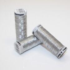 Gutermann Sulky Metallic Thread - Silver 7009 - Silver Sewing Embroidery Thread