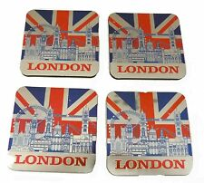 Pack of Four London Theme Magnetic Coasters