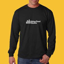 Abbey Road Record Long Sleeve Black  t shirt S M L XL 2XL Beatles