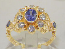 Tanzanite Anniversary Cluster Natural Fine Rings