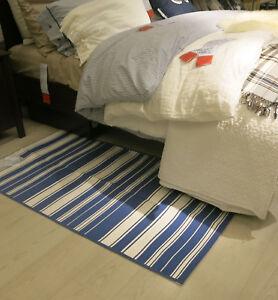 IKEA ALSLEV Bold STRIPES Area Throw RUG Runner Mat REVERSIBLE Swedish Flatwoven