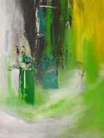 Abstract Original Painting Modern Framed canvas Contemporary Signed Inspirationa