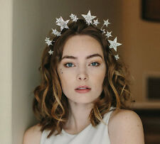 1920s inspired tiara, star crown, wedding hair accessory, handmade