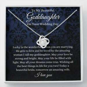 Love Knot, Goddaughter Wedding Day Gift, To Bride From Godmother Godfather