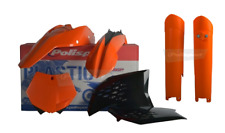 NEW Polisport KTM SX 08 09 10 Plastic Kit & Fork Guards Orange Black Motocross