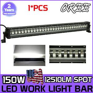 "150W 9D 33"" LED  Flash Strobe Work Light Bar Offroad Driving  SUV Boat 4WD 180W"