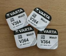 VARTA V364 - 4 Stück Uhrenbatterien / Knopfzellen