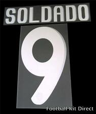 Valencia Soldado 9 2010-12 Football Shirt Name/Number Set Away Player
