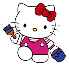 Iron On Transfer - Hello Kitty (Painter)