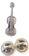 Violin Handcrafted in Solid Pewter in Uk Lapel Pin Badge