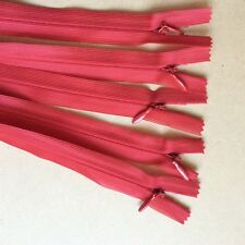 5x45cm Red Invisible zips zippers YKK (#320)