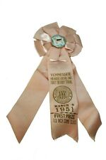 Vintage 1951 Tennessee Beagle Club Derby Trial Pink First Prize AKC Ribbon