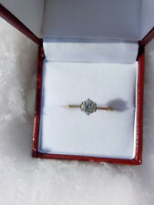9ct yellow white gold 0.47ct solitaire brilliant cut diamond engagement ring