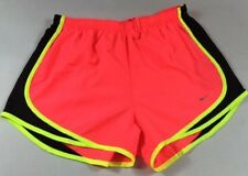 NIKE WOMEN'S NEW COLOR PUNCH MEDIUM DRI FIT TEMPO RUNNING TRACK SHORTS W/BRIEFS
