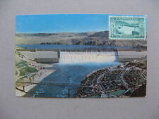 USA, maximumcard maxi card 1952, Grand Coulee Dam, energy electricity agrigation