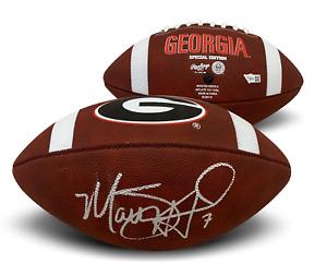 Matthew Stafford Autographed Georgia Full Size Football Fanatics Authentic COA