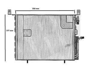 Heizkörper Kondensator A/C für Mercedes w201 190 Von 1988 Al 1993 550 x 377