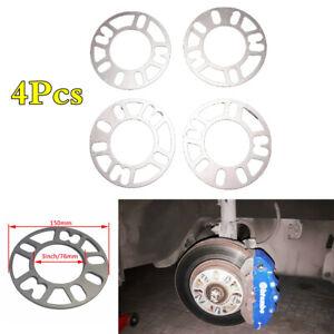 Universal 5mm Alloy Aluminum 4/5 Stud Car Wheel Spacers Adaptor Shims Plate Kit