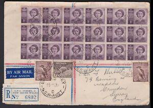 1947 3'3 Total HRH Princess Elizabeth Block of 18 Multi-Stamp FDC Uprated to GB