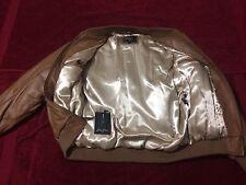 Sean John Brown Leather Satin Jacket Large