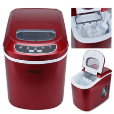 Della Portable Electric Ice Maker, Touch Button Display, Up to 26 lbs a Day, Red