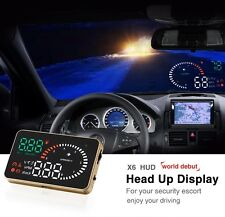 "X6 3"" Car HUD Head Up Display Speed Warning System Ultra-clear Fuel Consumption"