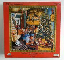 Father's Christmas Train By Susan Brabeau 500 Piece Jigsaw Puzzle 19x19 Sealed