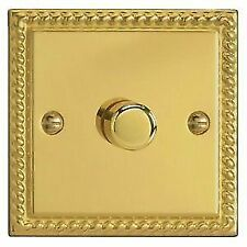 Georgian Brass 1-Gang Dimmer Switche Home Electrical Fittings