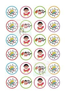 RYANS WORLD CUPCAKE TOPPERS X24 ASSORTED EDIBLE CAKE DECORATIONS UNOFFICIAL