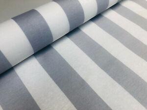 Teflon SILVER GREY Waterproof Outdoor Stripe Fabric Stripes Material 140cm wide