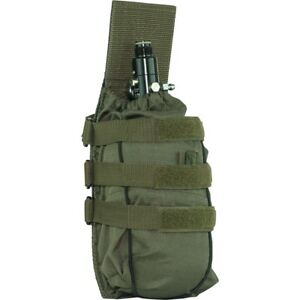 Valken Paintball Tactical Universal MOLLE Tank Holder Vest Pouch - Olive Green