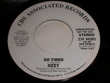 Ozzy Osbourne: So Tired / (same) 45