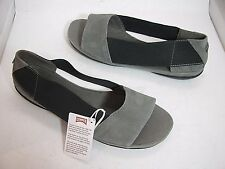"sz 38/ fits US 7 NEW CAMPER ""Right Nina"" Womens gray/ black sandals Shoes $110"