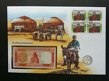 Turkmenistan Livestock 1994 Goat Ram Horse Farm Animal FDC (banknote cover *Rare