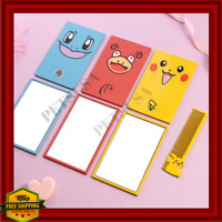 Pokemon Gift For Women/Girl Pikachu Mirror+Comb Or Squirtle/Slowpoke Makeup Tool
