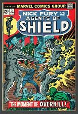 Nick Fury and his Agents of Shield #3 Marvel Comics 1973 VF Kirby Steranko Cover