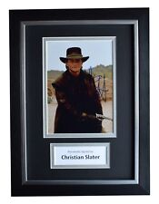 Christian Slater Signed A4 FRAMED Autograph Photo Display Young Guns Film COA