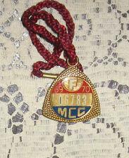 MCC Melbourne Cricket Club Badge 1969-70 Nice Condition