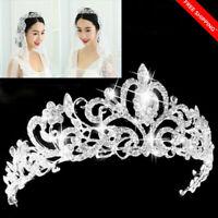 Rhinestone Woman Crystal Tiara Hair Band Bridal Princess Prom Crown Headband