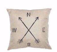 Decorative Compass Throw Pillow Cushion Cover Case Cotton Sofa 18x18 inch