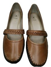 CLARKS K TWO TONE TAN/BROWN LEATHER SHOES UK SIZE 6. EU39 Mary Jane Style