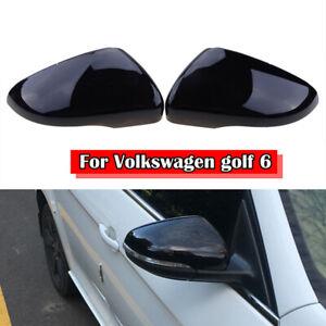 Gloss Black Rearview Mirror Cover For VW Volkswagen Golf 6 MK6 R GTI VI 09- 13