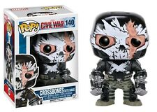 "MARVEL CIVIL WAR CROSS BONES CRACKED MASK 3.75"" VINYL FIGURE POP FUNKO"