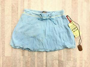 NEW Da-Nang Surplus Women's Casual Elastic Skirt Drawstring AZURE SFG295 XS