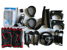 Nintendo Wii Sports Accessories Nunchuck Steering Wheel Memory Card Straps Etc