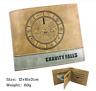New Gravity Falls Bill Cipher Brown Short Wallet Purse Handbag Holder Layer Bag