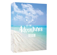 6'' x 4'' Slipin Photo Album Holds 80 Photos Photographs Travel Adventure Design