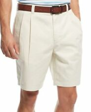 Club Room Mens Double-Pleated Shorts Sand Villa 34 NWOT