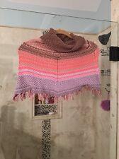 Gap Girl's Baby M L Poncho Knit Hooded Springtime Striped