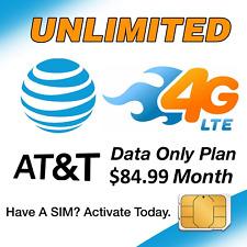 4G Lte Att Unlimited Enterprise Plan Hotspot /Tablet Data Sim Card $84 Per Month